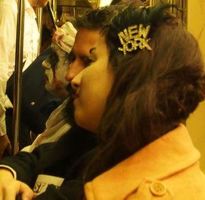 Heading to Halloween on the Subway