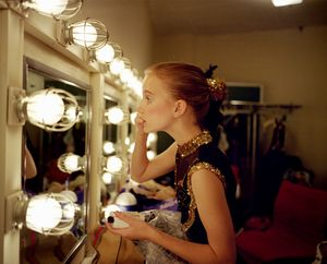 Katie putting on makeup, 1997. © Blake Fitch