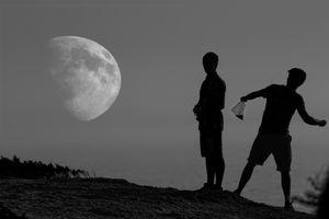 hit the moon