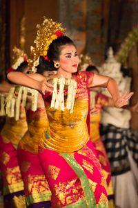 Legong dancers in Bali