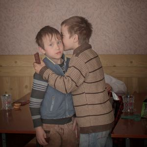 Twin brothers Igor and Arthur celebrate their birthday, Moldova. Daily Life Singles, 2nd place. Åsa Sjöström, Sweden, Moment Agency / INSTITUTE for Socionomen / UNICEF