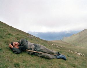 "A Shepherd in the Carpathian Mountains. Romania, 2005. From the series ""From the Mountains and to the Sea"" © Nadia Sablin"