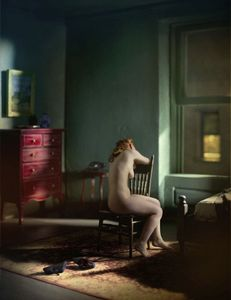 "Green Bedroom #2 (4 AM). From the series ""Hopper Meditations"" © Richard Tuschman"