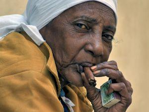 The cigar smoker of Cuba