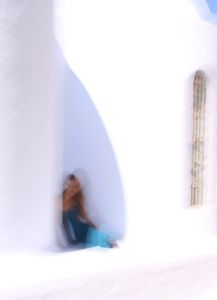 julia à Santorin