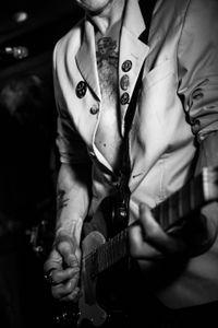 The guitarist of The Bombsite Kids