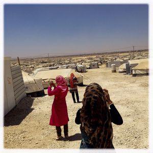 iPhone photography assignment with teenagers in Za'atari, Jordan