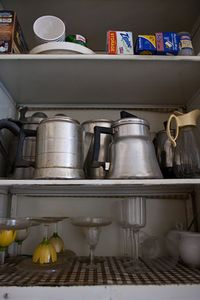 collection of old coffee pots