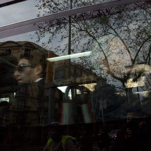 barcelona - people on bus