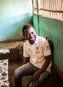 Adonis, a Congolese refugee inside Nakivale refugee settlement
