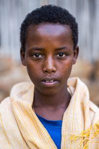 Young child,  Uda Kidane Mehret monastery,  Zege peninsula in Lake Tana,  Ethiopia