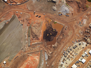 Breaking ground and the beginnings of construction work at the Olympic Park, Barra da Tijuca, 2014