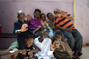 Kids from the local community