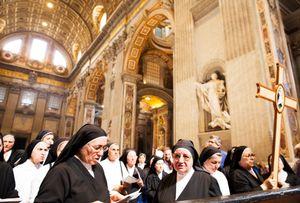 Nuns in Saint Peter's Basilica