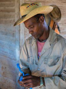 Farmer Roping Hammock, Viñales, Cuba