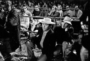 Jacques Pelzer waiting to go on at the Belgian Jazz Festival, Bilzen, 1967