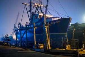 Trawler in Drydock