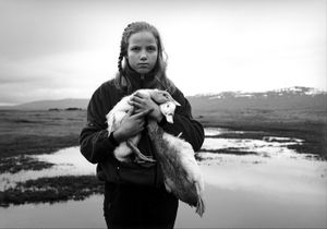 Arna and her Pet Geese. 2013.