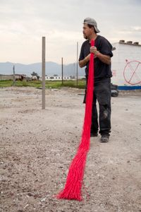 Gerardo in the fuse fabrication process.