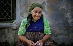 A woman in the Transylvanian village of Mera, Romania.