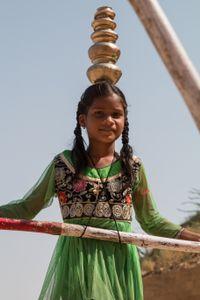 Gesichter Indiens - Seiltänzerin