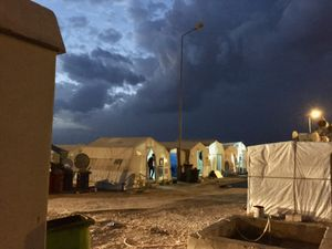 Sunset on Yazidi IDP Camp in Duhok