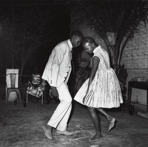 © Malick Sidibé, Christmas Eve, 1963, gelatin silver print, 50 x 60 cm. Courtesy of Fifty One Fine Art Photography.