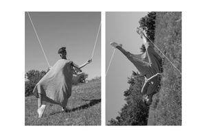 Balett dancer and her inner self