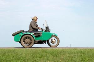 Sidecar pilot in Bashkortostan