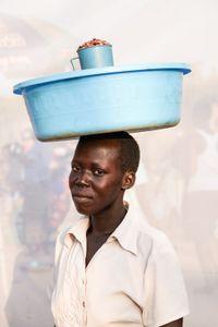 Oyella Margaret: Sells beans, 500 shillings ($0.16) per cup.