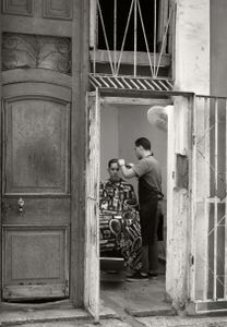 The barber at work