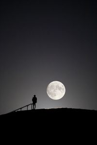Scenery with the moon