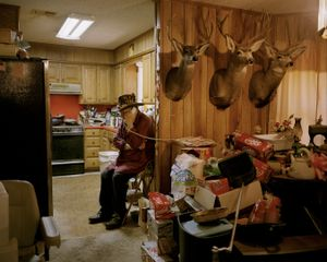 untitled hunter, trophy room # V, springtown, texasrecipient of the Outstanding Hunting Achievement Award-from the series 'hunters'-David Chancellor