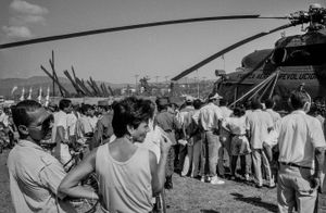Helicopter, Cuba,  Santiago de Cuba, Kuba, January1996