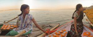 The diya lamp sellers, on the Ganges.