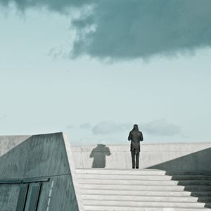 One man standing