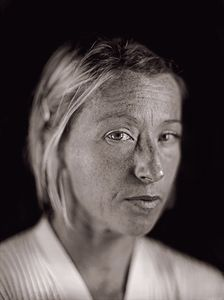 "Cindy Sherman by Chuck Close. From ""A Couple of Ways of Doing Something"" (Aperture, 2006)"