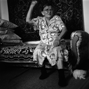 Oktiabrina Bogatyrenko. The wife of Ivan Philippovich. Khant. One of the few Khants, who speaks the Khant language. However, she complains that there is nobody left to talk to. Kargasok. Tomsk region. Russia. 2008.