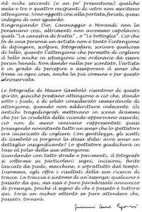 Critica di Giovanni Cesare Pagazzi