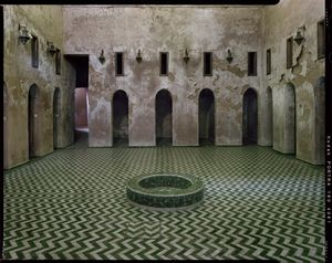 Ablution room at Bu Inaniya Madrasa in Meknes, Morocco.