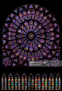 North Rose Window, Notre Dame, Paris