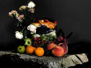 still life with compost