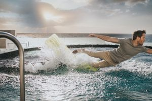Lilo Surfing