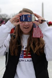 Cell Phone at Inauguration 2