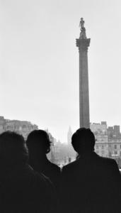 Nelson's Column, Trafalgar Square, London, England 1982