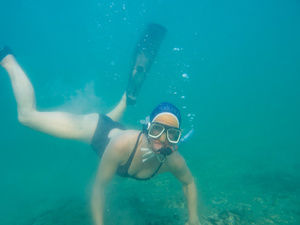 Diving under the pier