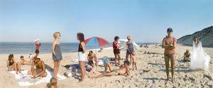 A Day on the Beach, 3 Part Panorama, Cape Cod, 1983. © Joel Meyerowitz. Courtesy Edwynn Houk Gallery, NY