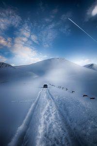 Stuck on a snowy mountain