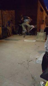 Skateboard ramp, steep