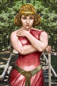 Her gaze also pierces (Corinna Monteverde), 1883, after Monteverde